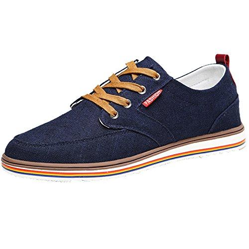 Dark barca Size tela scarpe coreano scarpe stile Color Scarpe YaNanHome di 43 casual blue basse Espadrillas da Nuove scarpe estivo scarpe uomo Blue Light scarpe da stile traspiranti qxSFRa