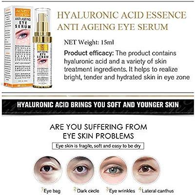 Hyaluronic Acid Eye Essence Cream,Collagen Anti-Aging Seru,Best Eye Gel ,for Women Eye Wrinkles, Fine Lines, Dark Circles, Puffiness, Bags .(15ml)