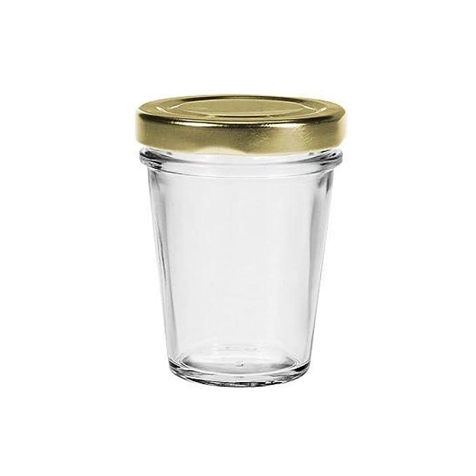 Viva Haushaltswaren - Vaso para Mermelada (Cristal, 80 ML, Incluye Embudo para Rellenar, 15 Unidades): Amazon.es: Hogar