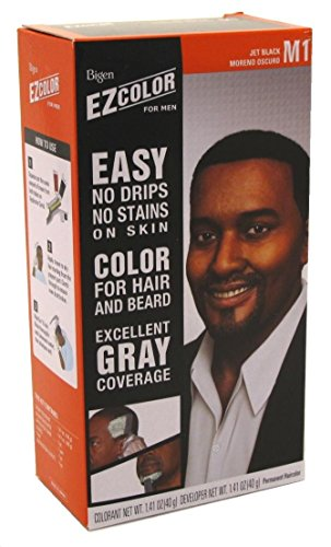 Bigen EZ Color Hair Color for Men - Jet Black Kit (Best Hair Dye For African American Men)