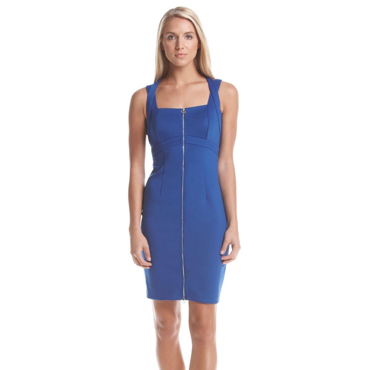 Calvin Klein Women's Zip Front Dress, Regatta, 10