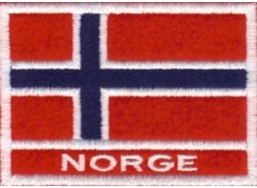 Marel - Parche bordado de la bandera de Noruega, 7 x 5 cm: Amazon.es: Hogar