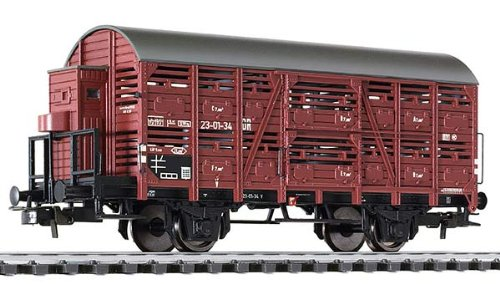 Bachmann Europe L235109 Cattle Wagon with Brakeman's Cab DR Ep.III HO Scale Model Train (Cattle Wagon)