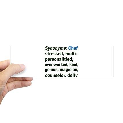 Amazon com: CafePress Synonyms: Chef Bumper Sticker 10