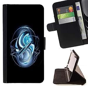 For Apple (4.7 inches!!!) iPhone 6 / 6S Case , Resumen Warp- la tarjeta de Crédito Slots PU Funda de cuero Monedero caso cubierta de piel