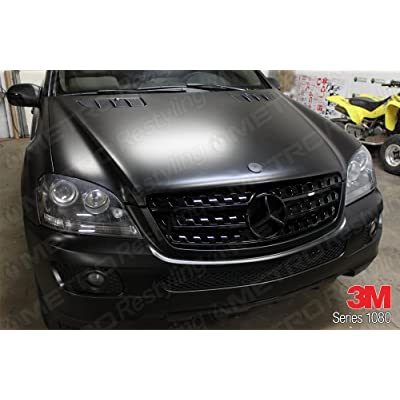 3M 2080 S12 SATIN BLACK 5ft x 1ft (5 sq/ft) Car Wrap Vinyl Film: Automotive