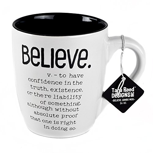 Believe Definition Jumbo Ceramic Mug - 20 Ounces by Tara Reed Designs ()