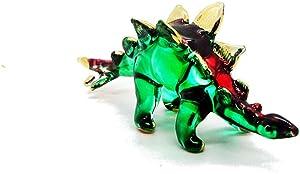 Tiny Handcraft Dinosaur Hand Blown Glass Figurines (Stegosaurus)
