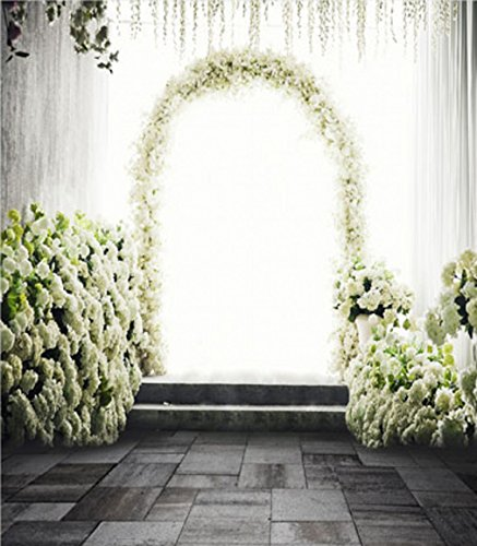 Generic Pure floral arco de flores boda Photography fondo romántico Booth fondos de estudio fotográfico