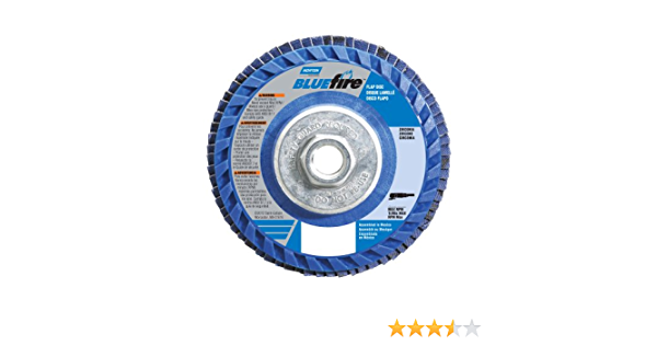Pack of 2 4-1//2 Diameter 7//8 Arbor Norton BlueFire R884P Type 27 Flat Flap Abrasive Disc 60 Grit Zirconia Alumina Plus