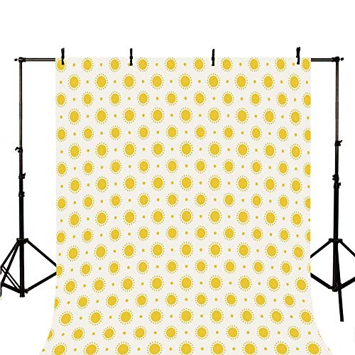 - Geometric Stylish Backdrop,Sun Motif Colorful Polka Dots Summer Themed Heavenly Bodies Celestial Elements for Photography,39.3