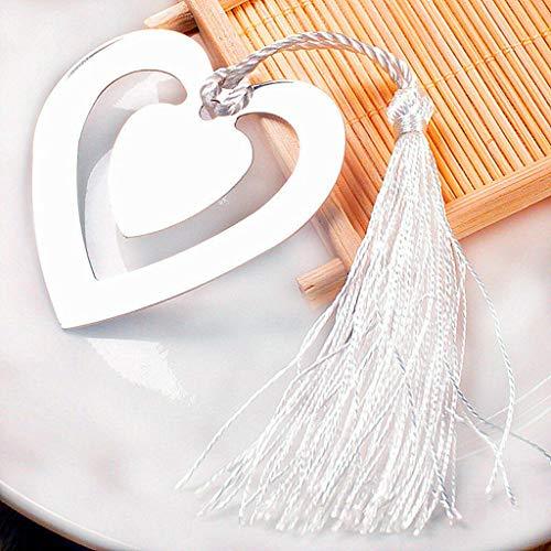 BROSCO Love Heart Bookmarks for Books Bookmarks - Bell Bingo Wedding