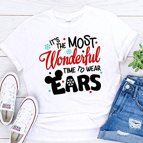 Disney Christmas T-Shirts Matching Vacation Apparel Shirts for Family Most Magical Time to Wear ()