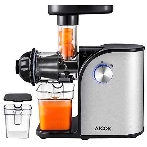 Slow Press Juicer Reviews : Aicok Slow Masticating juicer, Cold Press Juice Extractor, Stainless Steel, Quiet Motor, High ...