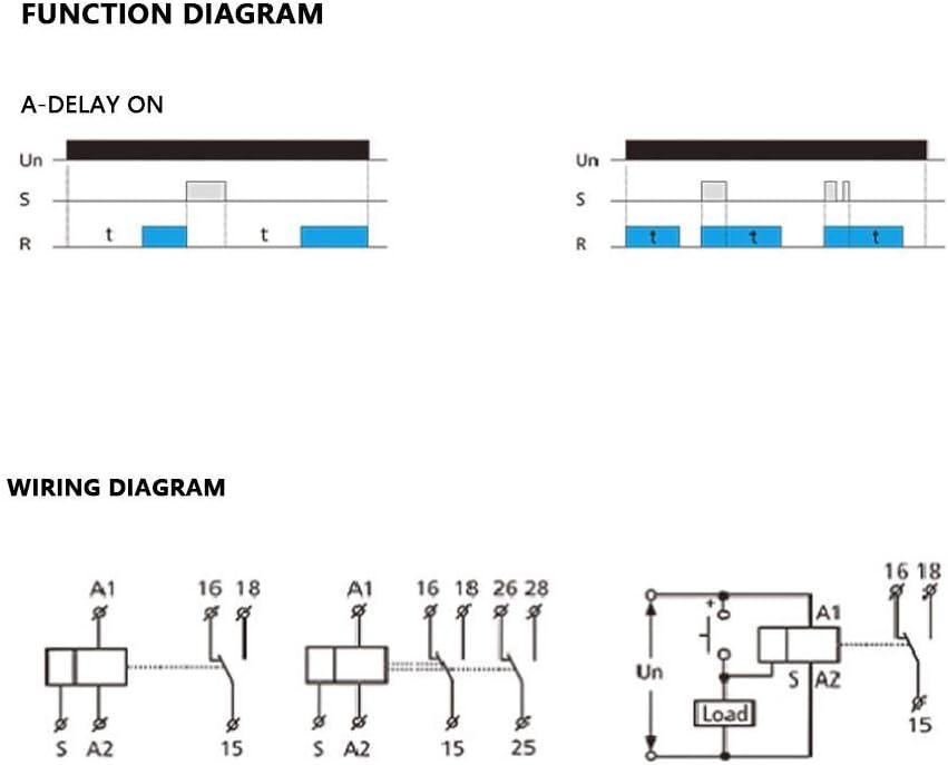 GRT8-A1 Mini relais temporis/é /à la mise sous tension Montage sur rail DIN 220V Relais temporis/é /à la mise sous tension