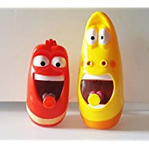 Cartoon incredible Comic show Larva Yellow & Red figures Water gun set toy