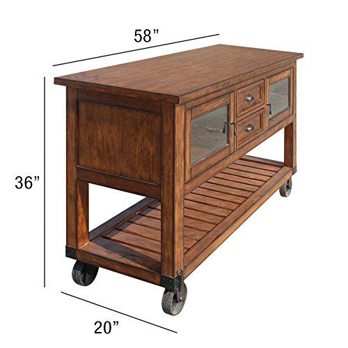 ACME Furniture 98180 Kadri Kitchen Cart, Distress Chestnut by Acme Furniture