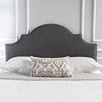 Gwenyth Grey Fabric Queen/Full Headboard