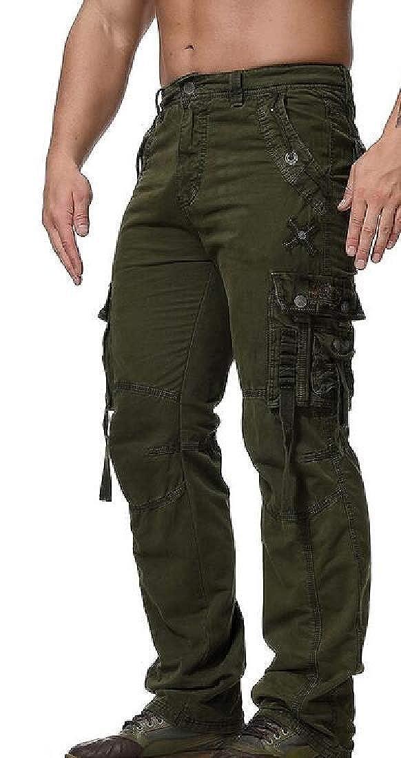 Hajotrawa Mens Outdoor Multi-Pockets Combat Rugged Camouflage Cargo Pants