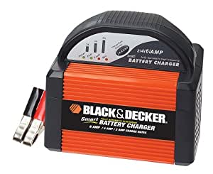 Black & Decker VEC1086BBD Smart Battery 6/4/2 Amp Battery Charger