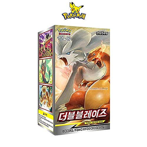 Pikachu Sun & Moon Double Blaze Trading Cards Booster Card Pack / 30 Packs / Korean Ver