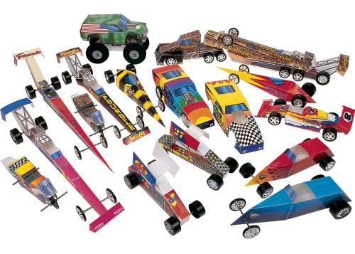 - Pitsco Fold-N-Roll Racer Kit (For 16 Students)