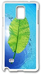 Blue Water Green Leaf Case Cover for Samsung Galaxy Note 4, Note 4 Case, Galaxy Note 4 Case Cover