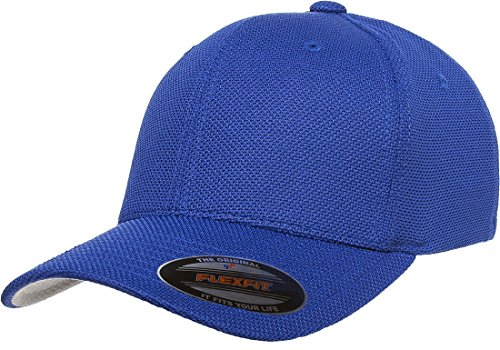 6577CD Flexfit Athletic Cool and Dry Pique Mesh Cap - OSFA (Royal)