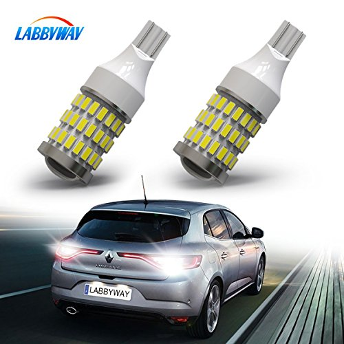 LABBYWAY 2 X T15 912 921 W16W Bulbs High Power 10-30V Super Bright 6000K LED Bulbs Used For Backup Reverse Lights, Xenon White