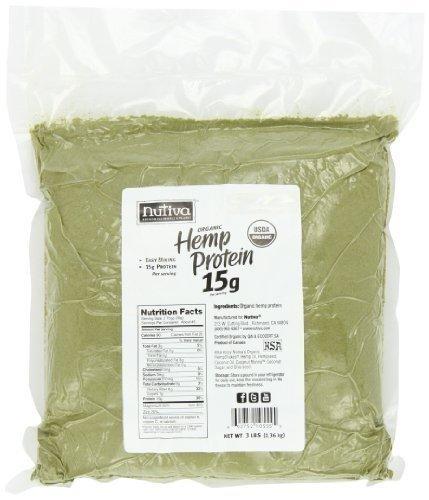 Nutiva Organic Hemp Protein 15g Protien 3 lb, 5 Pack