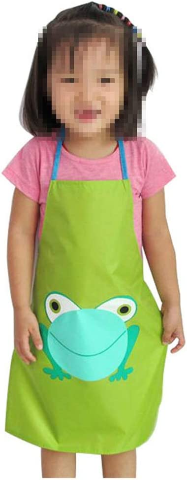 Amazon Com Child Prevent Water Splash Apron Little Frog Pvc Aprons Smock Toddler Painting Studio Color Green Size S Kitchen Dining