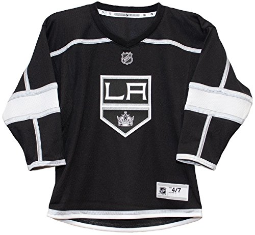 98c160d49 Outerstuff NHL NHL Los Angeles Kings Toddler Replica Jersey-Home, Black,  Toddler One Size