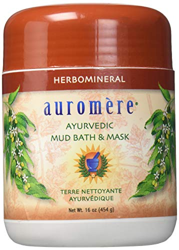Ayurvedic Herb and mineral Mud Bath by Auromere - All Natural Mud Bath that Purifies and Rejuvenate Skin Effects - Eliminates Toxins and Impurities While Nourishes Skin - 16 oz
