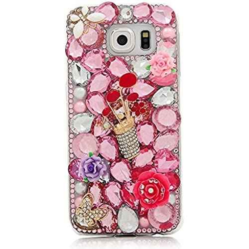 Samsung Galaxy S7 Active Bling Case - Fairy Art Luxury 3D Sparkle Series Golf Flowers Crystal Design Back Cover Sales