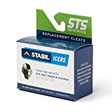 STABILicers Run, Made in USA, Snow and Ice Traction Cleats for Running Shoes, 25 Replacement Cleats Included, Gray/Green, Size