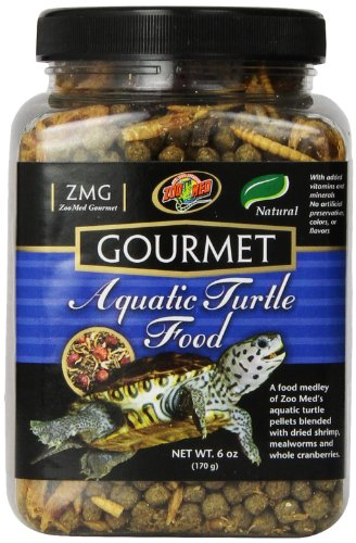 Zoo Med Gourmet Aquatic Turtle Food, - Turtle Hatchling Aquatic