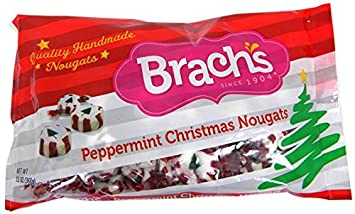 brachs christmas peppermint nougats 12 oz single pack