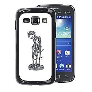 A-type Arte & diseño plástico duro Fundas Cover Cubre Hard Case Cover para Samsung Galaxy Ace 3 (Cool Band Music Art Character Sketch)