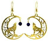 Wild Bryde Jewelry - Wolf with Lapis dangle earrings