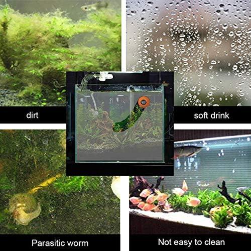 Aquarium Cleaner Fish Tank Glass Cleaner Mini Portable Durable Plastic Magnet Fish Tank Brush Cleaning Tool Green