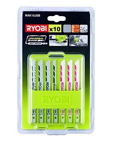 Ryobi 5132002702 Coffret de 10 lames de scie sauteuse Gris 11,4 x 19,3 x 2,2 cm