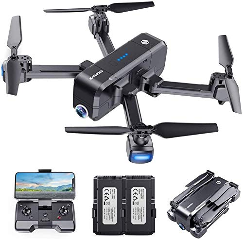 SANROCK X103W Camera Drones for Kids and Adults with 2 Battery, Long Flying Time, Christmas Gift Toy for Boys and Girls
