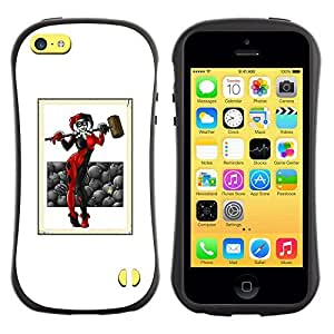 Be-Star Colorful Printed Design Anti-Shock Iface First Class Tpu Case Bumper Cover For Apple iPhone 5C ( joker hammer art woman black red white ) Kimberly Kurzendoerfer