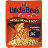 Uncle Ben's Ready Rice Pouch, Whole Grain Brown, 8.8-Ounce Pouches (Pack of 12)