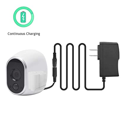 Power Adapter for NETGEAR ARLO HD Security Camera, Upgraded Arlo Power  Adapter with Replace Lithium Batteries, Arlo Plug Adapter for Outdoor  Camera
