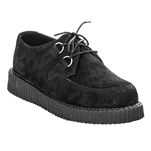 Boots & Braces Creeper New Fur - Diverse Farben in 37-42 Schwarz