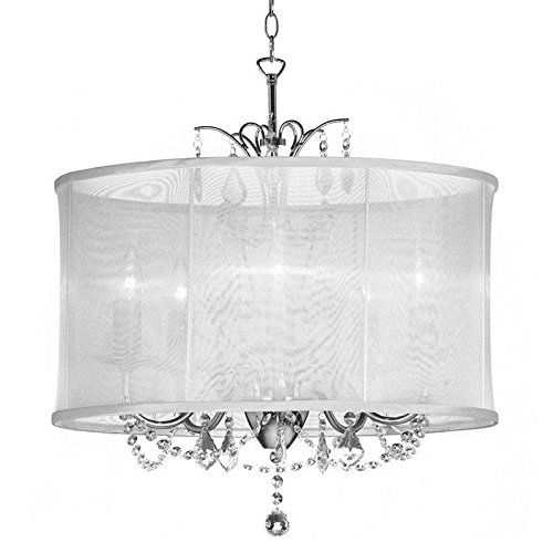 Dainolite Lighting VNA-20-5-119 6 Light Crystal Mini Chandelier, Polished (Polished Chrome Mini Chandelier)