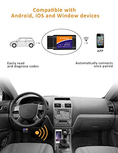 kungfuren OBD2 Scanner, [2018 NEW] Code Reader Car diagnostic Tool Compatible With IOS, Android & Windows Devices Connects Via WiFi For Cars by kungfuren (Image #1)