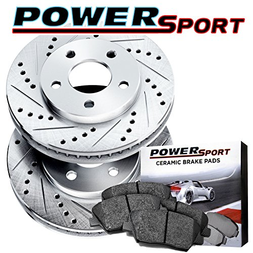 Front Drilled Slotted Brake Rotors and Ceramic Pad For 1984-1995 Toyota Pickup