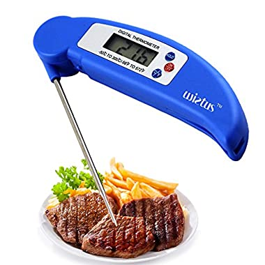 Food/BBQ Thermometer,Wietus® Best Ultra Fast & Accurate Instant Read Digital Electronic Barbecue Meat Food/BBQ Thermometer With Collapsible,Lifetime Replacement Guarantee!